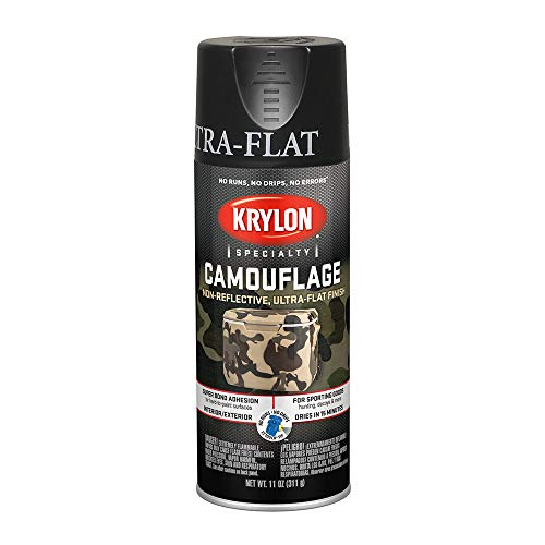 Krylon Camouflage Paint, Ultra Flat, Black, 11 oz.