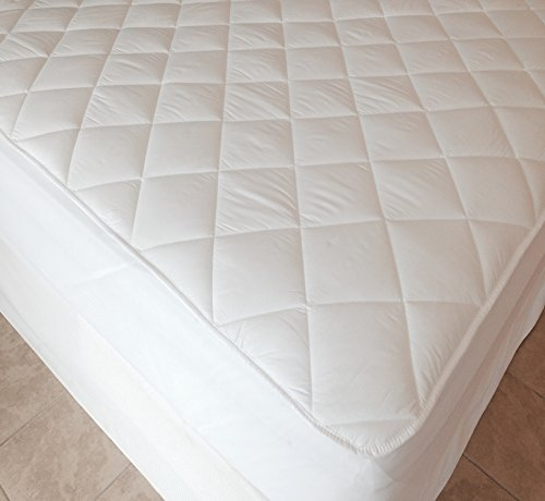 King Size Bed, Extra Deep 40cm (16' approx) Quilted Fitted Mattress Protector by Viceroybedding (King)