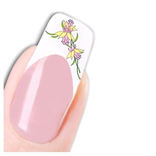 Just Fox – Nail Art Autocollants Jonquilles Fleurs Stickers Flower Pied pour ongles ongles Water Decal
