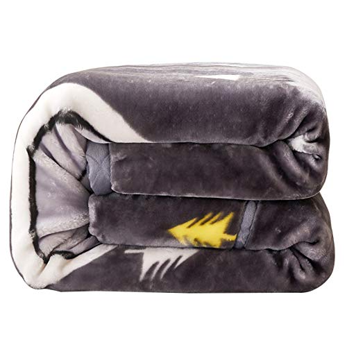 LUO Blankets Microfiber Blanket, Double-thickened, Reversible Blanket, Heating Up Quickly, Used for Car Blankets, Shawl Blankets (Size : 70.87 * 86.61in)