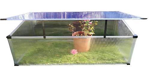 Invernadero de policarbonato Aleana 3 para jaridno, huerto y balcón, perfiles transparentes,...