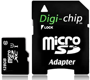 Digi-Chip 128GB Micro-SD Memory Card UHS-1 High Speed for Motorola G6, G6 Plus, G6 Play, Motorola P30, E5, E5 Play, Moto Z3, Z3 Play, Motorola One, One Power Phones and Smartphones