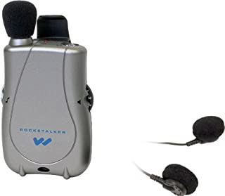 Williams Sound PKT D1 E14 Pocketalker Ultra with Dual Mini Earbud, 200 hours of battery life, Adjustable tone and volume control, Accommodates a variety of earphone and headphone options