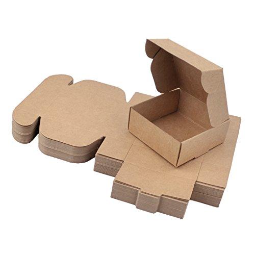 Freahap 50 Stü. Verpackung Karton Box für Handgemachte Seife Kleine Geschenke XL
