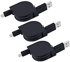 Retractable USB Type C Cable Type C Charger USB C to USB A Data Sync Charging Cord Note 8 Charger for Samsung Galaxy Note 9, S9 S8 Plus, Google Pixel 2 XL, LG G5 G7 V35 ThinQ, V30, ZTE Blade Z Max X