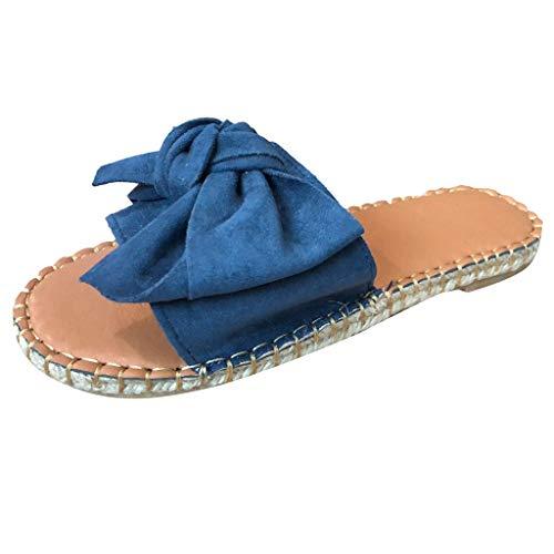 TWIFER Pantoletten Damen Hausschuh Flache Sandalen Strandhefterzufuhrschuhe Slipper