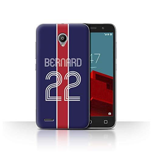 eSwish Personalizado Kit Camiseta Club Fútbol Euro Personalizar Funda para el Vodafone Smart Prime 6 / Azul Rojo Diseño/Inicial/Nombre/Texto Carcasa/Estuche/Case