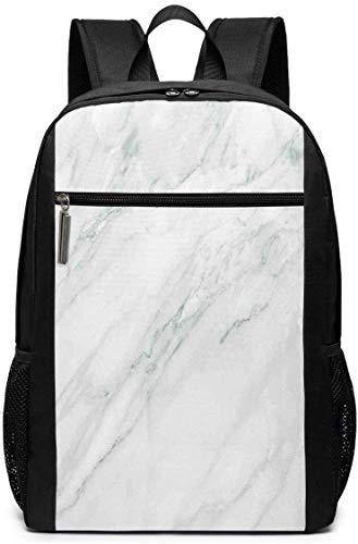 Schul-Laptop-Reise-Sport-Rucksack-Tasche, gebeizt Marmor Hintergrundbild abstrakte Texturen monochromatische Design drucken, lässige Tagesrucksack für Busin/College, 17 '