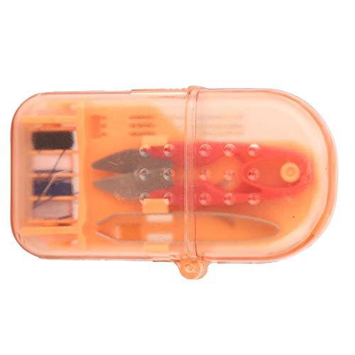 Jeanoko Práctico exquisito mini caja de costura mini herramienta de costura conjunto de manualidades ropa para coser (naranja)