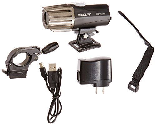 Cygolite Expilion 850– 850 Lumen Bike Light– 5 Night Modes & Day Flash – Swappable Battery Stick– Water Resistant– Secure Hard Handlebar & Helmet Mount– USB Rechargeable– for Road & Mountain Bicycles