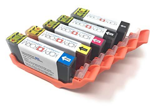 KOPYFORM Lebensmitteltinte Patronen-Set Canon-kompatibel (PGI-525 + CLI-526, z.B. MG5350) - TK130