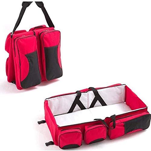 HLR Lit de Voyage Portable multifonction maman Sac bandoulière haute capacité Bionic conception pression de compression amovible et lavable (Color : F)