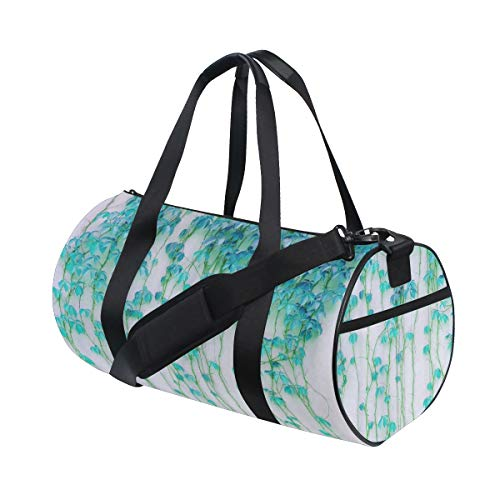 ZOMOY Gym Bag,Ivy Plant,New Canvas Print Bucket Sports Bag Fitness Bags Travel Duffel Luggage Canvas Handbag