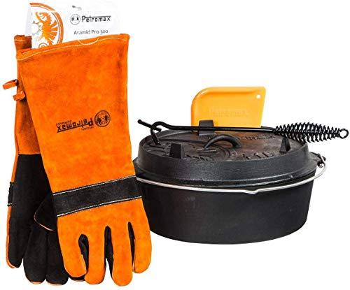 Petromax Set de iniciación para olla de fuego ft4.5-t (holandés planer de suelo), incluye guantes, elevador de tapas y rasqueta