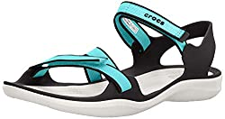 Ladies crocs sandals in aqua