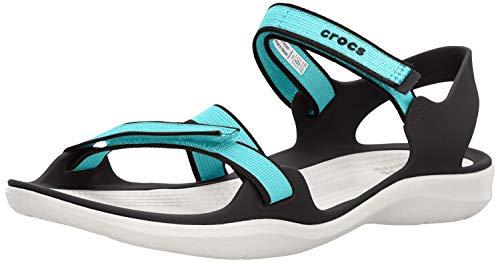 Crocs Damen W Swiftwater Webbing Sandal 204804 Zehentrenner, Weiß (Bassin/Blanc 4Dy), 36/37 EU