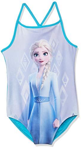 Disney Mädchen Die Eiskönigin, ELSA Badeanzug, blau, Größe 104, 4 Jahre