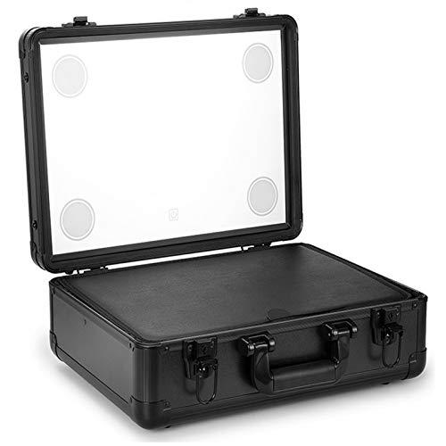 ACEWD Portátil Bolsa Cosmetica, Bolsa De Neceser con Gran Capacidad Y Diseño Divisible, Bolso De Organizador Maquillaje En Viaje, Un Kit De Maquillaje Profesional Completo,Negro
