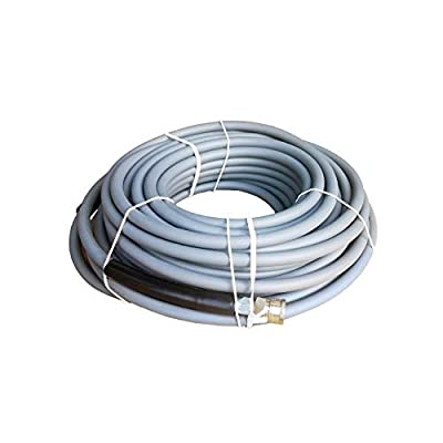 "Ultimate Washer 4000 PSI 3/8"" x 100' Grey Non-Marking Abrasion Resistant Pressure Washer Hose w/Quick Connects"