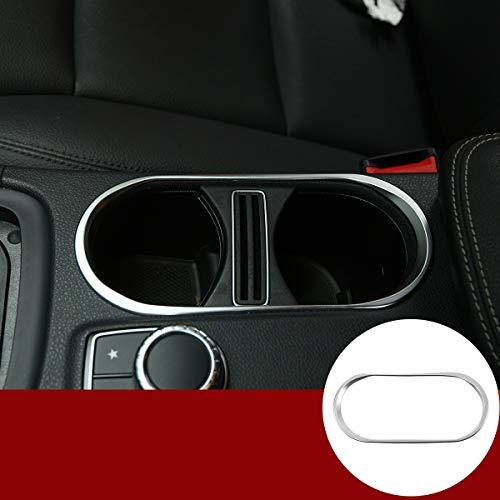 YIWANG ABS Chrom Becherhalter-Abdeckung Zubehör für Benz A Klasse W176 A180,B Klasse W246,CLA 200 260, GLA