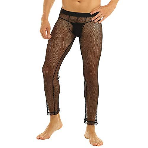 inhzoy Herren Fischnetz Strümpfe Strumpfhosen Transparent Leggings Netzstrumpfhose Männer Erotische Unterwäsche Nylon Pantyhose Clubwear...