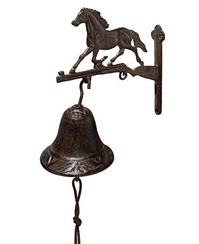 zeitzone Türglocke Pferd Glocke Rustikal Gusseisen Landhausstil Antik-Stil Braun