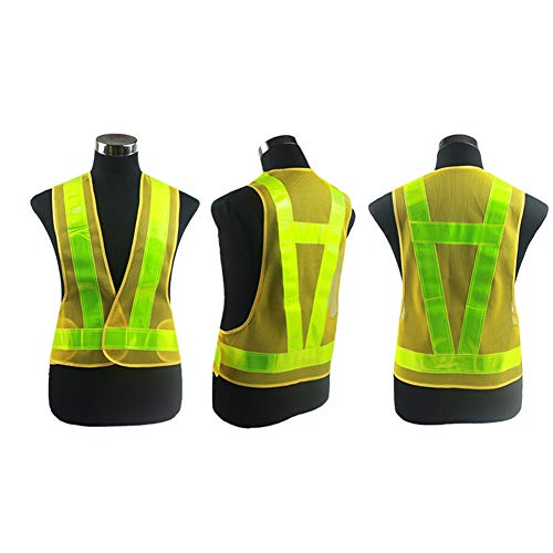 Reflective Vest,(2 Pieces) Running Vest Men Women for Over Jacket,High Visibility Reflective Cycling Gear Night Walking Jogging Dog Riding,Cycling or Early Morning and Night Activities