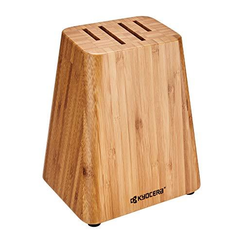 Kyocera KBLOCK4 4 slot Knife Block 75quot x 65quot x 5quot BAMBOO