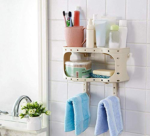 Lowest Prices! Shelf Plastic Suction Cup Bathroom Kitchen Storage Rack Storage Box Shower Rack Free ...