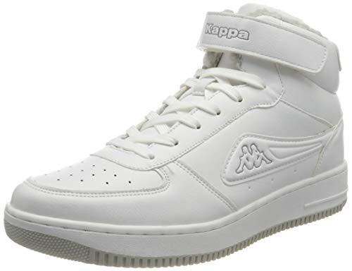 Kappa Męskie buty sportowe Bash Mid Fur, biały - 1014 White L Grey - 43 EU