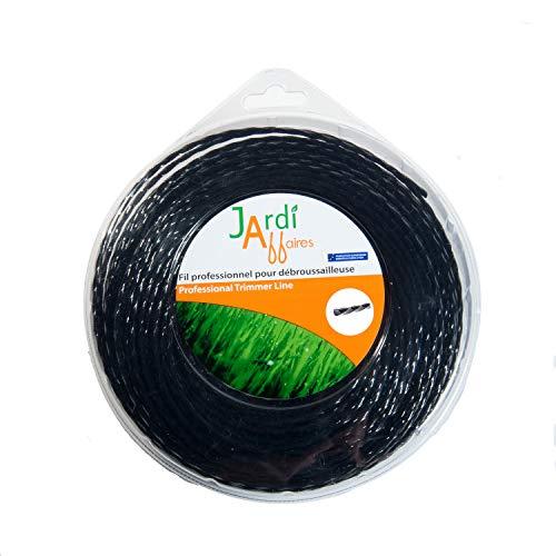 Trim line rotofil 15m x 1.65mm en nylon durable bobine recharge cordon fil tondeuse nouveau