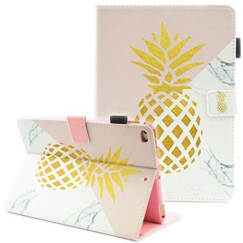 "iPad Mini Case, iPad Mini 2 Case, iPad Mini 5 Case, iPad Mini 3 / 4 Case, Fvimi Multi-Angle Viewing Folio Smart Leather Cover with Auto Sleep/Wake for iPad Mini 1/2/3/4/5 7.9"" Tablet, Gold Pineapple"