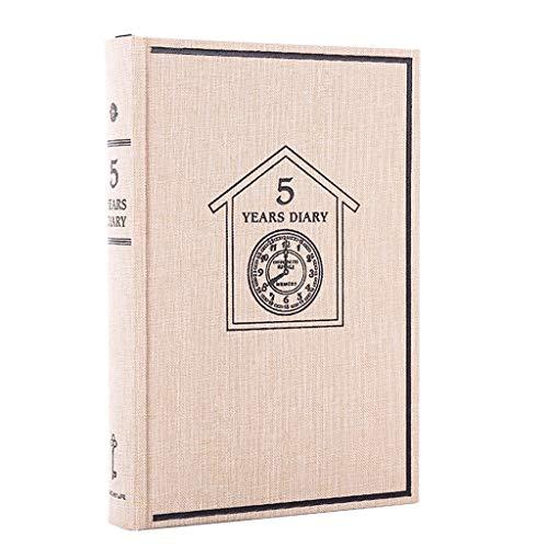 ZRJ Cuaderno de negocios diario europeo colección libro de tapa dura, diario de papelería, suministros de oficina, regalo de estudiante (color beige)