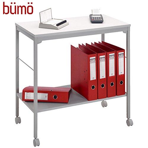 BÜMÖ Trolley | Trolley voor ordners & planken | Multifunctionele tafel op wieltjes | Rolkast voor ordners.