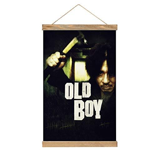 HirrWill hohe Qualität Wandbilder Deko Poster, Oldboy (4), Poster Wandbild mit Rahmenzubehör, fertig zum Aufhängen für die Heimdekoration -13.1 '' × 20.4 ''