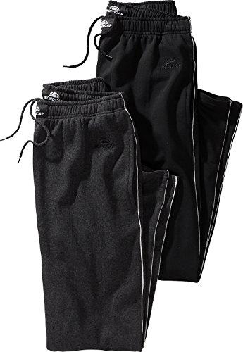 NORDCAP Herren Jogginghosen-Set in Grau & Schwarz, kuschelige Sporthose im Doppelpack, Bequeme Freizeit-Hosen (Größe: S - XXXXL)