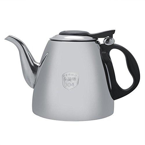 Tetera cafetera de acero inoxidable, capacidad grande, calefaccion rapida, estufa, tetera con mango resistente al calor para la oficina,casa (1.2L)