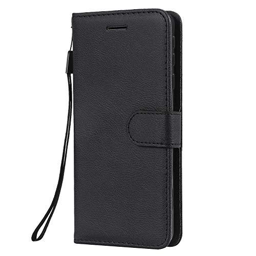 Hülle für Nokia 1Plus Hülle Handyhülle [Standfunktion] [Kartenfach] Tasche Flip Hülle Cover Etui Schutzhülle lederhülle flip case für Nokia 1 Plus - DEKT051418 Schwarz