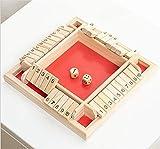 FFOMG 4-seitiges Großspiel Shut The Box-Spiel Würfelspiel, Würfelspielzeug aus Holz, interaktive...