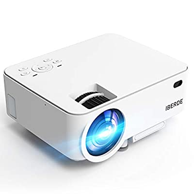 Amazon - Save 60%: IBERDE Mini Projector, 1080P Supported Portable Projector with 50000 Ho…