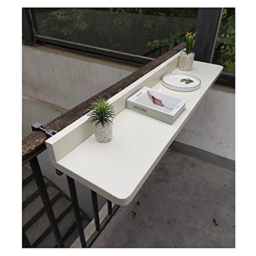 YRCWZF Mesa Colgante de Barandilla de Balcón, ElevacióN Ajustable Mesa Auxiliar para JardíN, Mesa Comedor Plegable Exteriores Escritorio Computadora,120 * 40cm