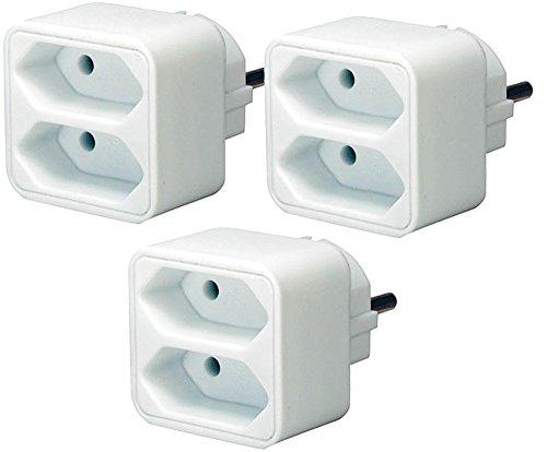 Brennenstuhl Adapterstecker Euro (3 Stück, weiß | 2 Euro)