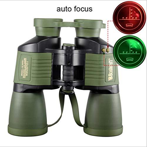 TMBDYE Binoculares, con coordenada 10x50 Autofocus HD Visión Nocturna Rifle Scope, Telescopio Diario a Prueba de Agua, Observación de Aves al Aire Libre para Adultos Viajes Caza Fútbol