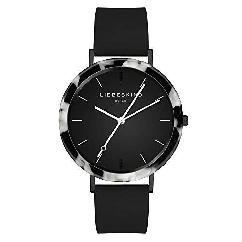 Liebeskind Berlin Damen Analog Quarz Uhr mit Leder Armband LT-0183-LQ