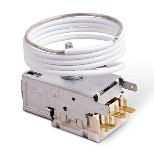 VIOKS - Termostato para frigorífico, regulador de temperatura análogo a parte alternativa Ranco K59-L1287, parte alternativa apta, entre otras, como análoga a Liebherr 6151086
