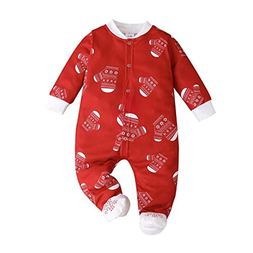 Reindeer Elf Snowflake Christmas Baby Romper Outfits Newborn Infant Boy Girl Xmas Gift Outfit 3D Cute Christmas Printing Romper Bodysuit One-Piece Jumpsuit Brother Sister Newborn Christmas Clothes
