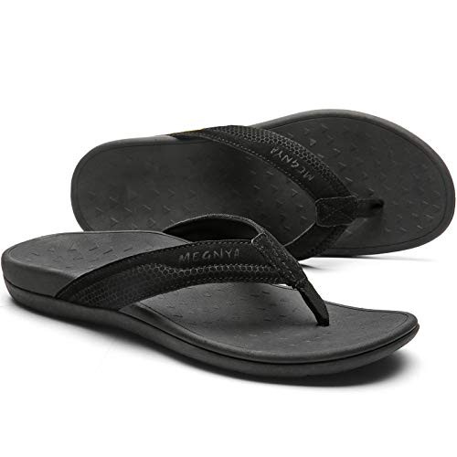 Orthopedic Arches Flip Flop Sandals for Men, Comfortable Plantar Fasciitis Pain Relief Thongs, Soft Toe Post Slippers with Cushioned Outsole Size 12