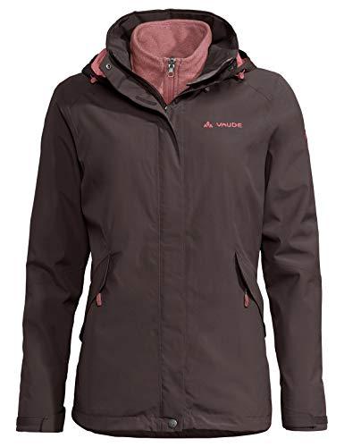 VAUDE Damen Women's Rosemoor 3in1 Jacket Doppeljacke, Pecan Brown, 48