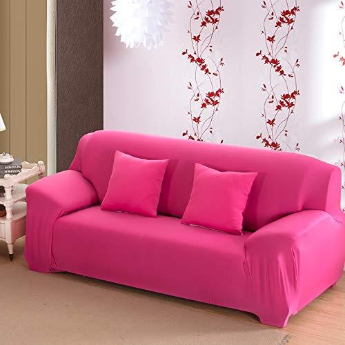 ASCV Funda de sofá de Color sólido para Sala de Estar Blanca como la Nieve Funda de sofá elástica a Prueba de Polvo Funda de sofá Toalla de sofá elástica A5 1 Plaza