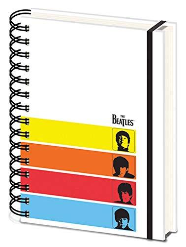 De Beatles Notebook Een Hard Days Night Band Logo Officiële Witte A5 Wiro Een Size